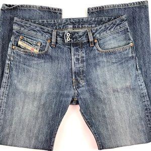 Diesel Industry Straight Leg Jeans Button Fly 31 W